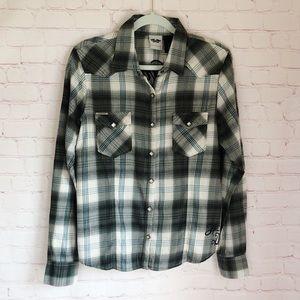 [Harley Davidson] Flannel embroidered shirt large